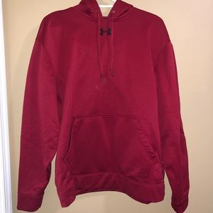 Red Under Armour hoodie size M